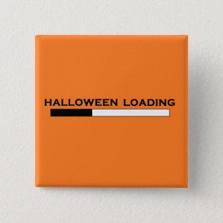 """""""ハロウィンローディング""""のボタン 5.1CM 正方形バッジ"""