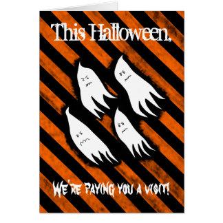 ハロウィン反安いキャンデー カード