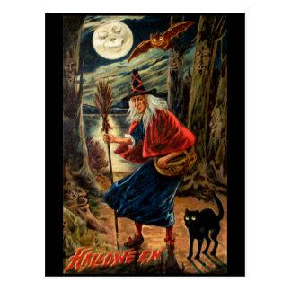 ハロウィン夜の魔法使い ポストカード