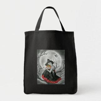ハロウィン夜魔法使いのバッグ トートバッグ
