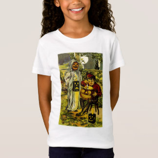 ハロウィン幽霊およびハロウィーンのカボチャのちょうちん Tシャツ