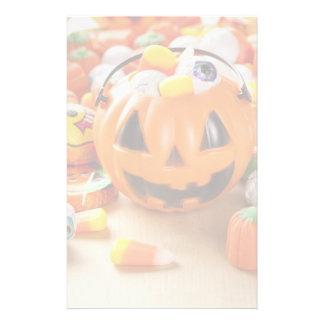 ハロウィン気味悪いオレンジキャンデー 便箋