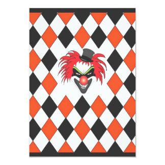 ハロウィン熱狂するなピエロ カード