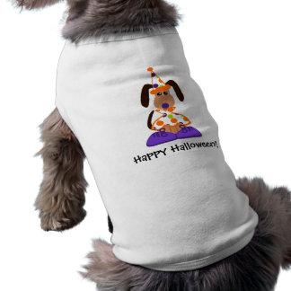 ハロウィン犬のピエロのTシャツ ペット服