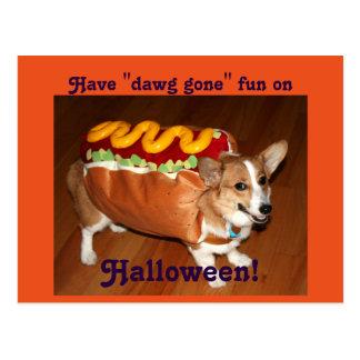 ハロウィン犬 ポストカード