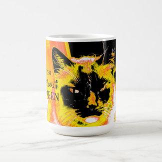 ハロウィン猫について気難しい コーヒーマグカップ