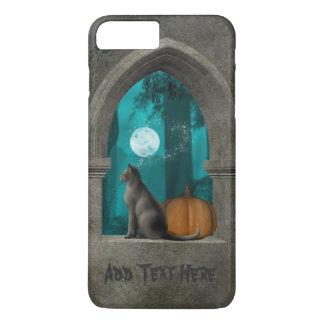 ハロウィン猫の城の窓のiPhoneの場合 iPhone 8 Plus/7 Plusケース