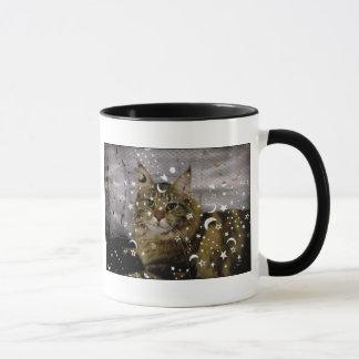 ハロウィン猫の魔法のマグ マグカップ