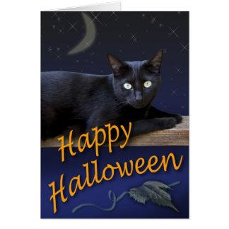 ハロウィン猫カード カード