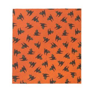 ハロウィン猫パターン ノートパッド