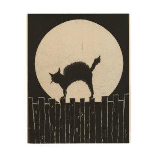ハロウィン猫 ウッドウォールアート
