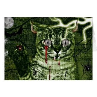 ハロウィン猫 カード