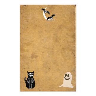 ハロウィン骨組動物の集団 便箋