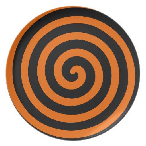 ハロウィン|オレンジ|及び|黒|Hypnoプレート ディナープレート