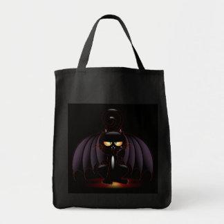 ハロウィン-クールなこうもり猫 トートバッグ