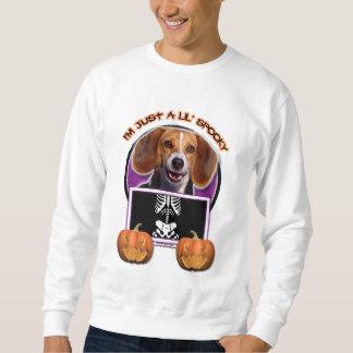ハロウィン-気味悪いちょうどLil -ビーグル犬 スウェットシャツ
