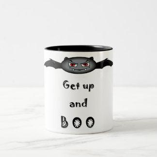 ハロウィン-起き、非難の声をあびせて下さい! ツートーンマグカップ