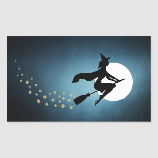 ハロウィン-魔法使い 長方形シール
