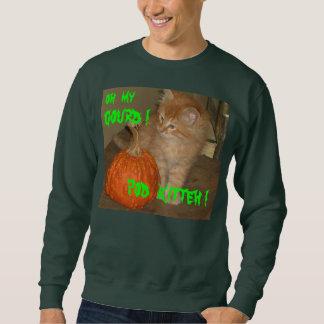 ハロウィンCATオハイオ州私のひょうたん! ポッドKITTEH! ワイシャツのティー スウェットシャツ