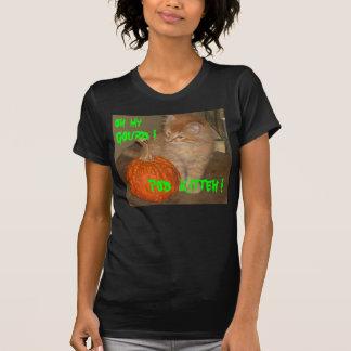 ハロウィンCATオハイオ州私のひょうたん! ポッドKITTEH! ワイシャツのティー Tシャツ