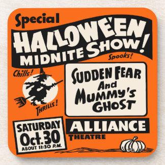 ハロウィンMidniteショー-ヴィンテージの幽霊ショーポスター コースター