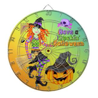 ハロウィンRockinの魔法使いの投げ矢板 ダーツボード