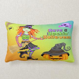ハロウィンRockinの魔法使いのLumbarの枕 ランバークッション