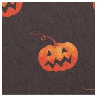 ハロウィーンのカボチャのちょうちんかわいいパターン ファブリック