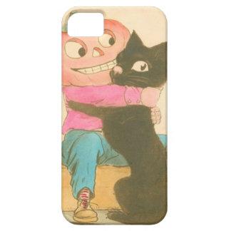 ハロウィーンのカボチャのちょうちんのカボチャかかしの黒猫 iPhone SE/5/5s ケース