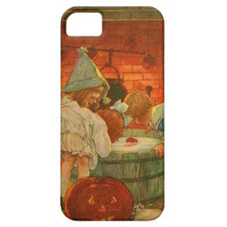 ハロウィーンのカボチャのちょうちんのカボチャ振れるApple iPhone SE/5/5s ケース