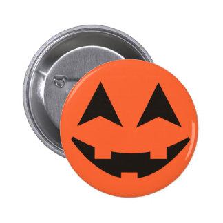 ハロウィーンのカボチャのちょうちんのカボチャ顔のハロウィンボタン 5.7CM 丸型バッジ