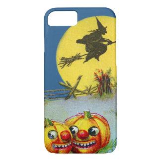 ハロウィーンのカボチャのちょうちんのカボチャ魔法使いの満月の三角波 iPhone 8/7ケース