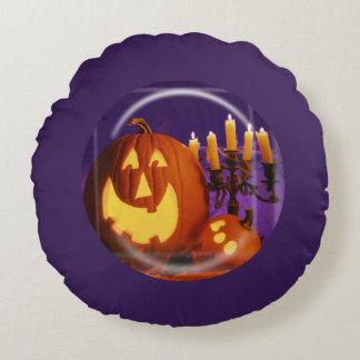 ハロウィーンのカボチャのちょうちんのハロウィンの紫色の枕 ラウンドクッション