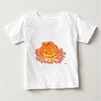 ハロウィーンのカボチャのちょうちん ベビーTシャツ