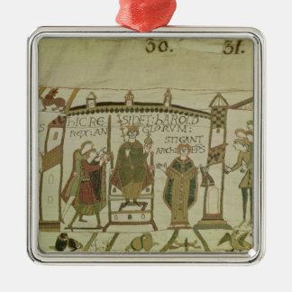 ハロルドは王冠を提供され、 シルバーカラー正方形オーナメント