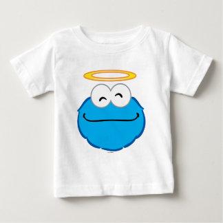 ハローのクッキーの微笑の顔 ベビーTシャツ