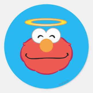 ハローのElmoの微笑の顔 ラウンドシール