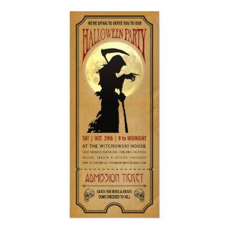 ハローウィンパーティのチケットの招待状 カード