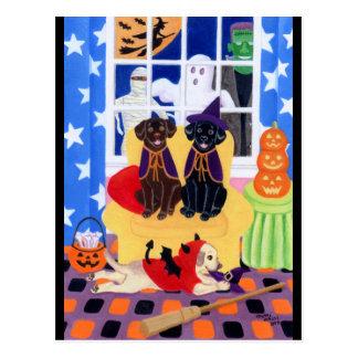 ハローウィンパーティのラブラドール! ポストカード