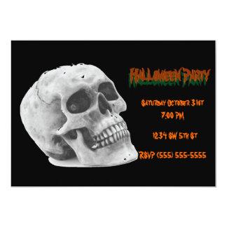 ハローウィンパーティの招待状のスカル カード