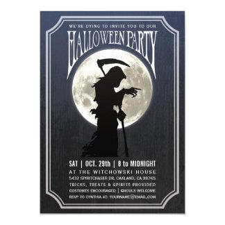 ハローウィンパーティの招待状|の月及び死神 カード