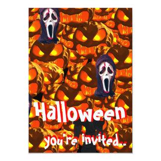ハローウィンパーティの招待 カード