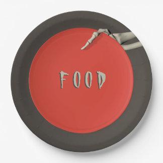 ハローウィンパーティの食糧紙皿の骨組手 ペーパープレート