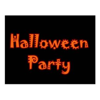ハローウィンパーティ-変な赤い及びオレンジ ポストカード