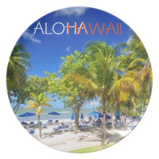 ハワイからのエキゾチックな眺め プレート