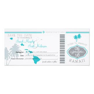 ハワイに日付の搭乗券を救って下さい カード