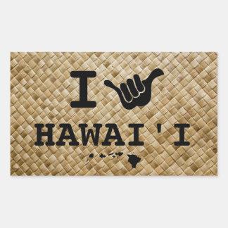 ハワイのためのShaka 長方形シール
