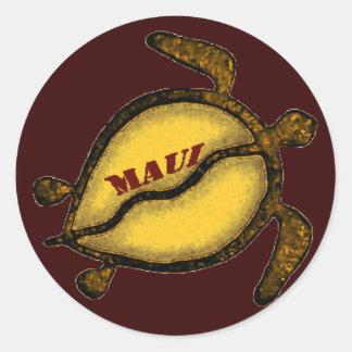 ハワイのウミガメマウイ ラウンドシール