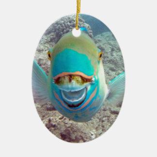 ハワイのオウムの魚 セラミックオーナメント