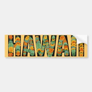 ハワイのカラフルの花の明るいバンパーステッカー バンパーステッカー